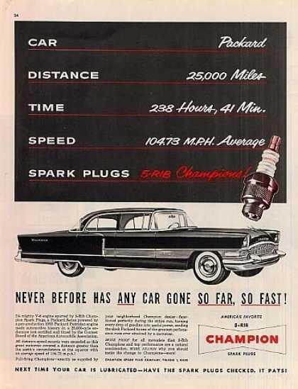 Champion Ad Packard Patrician Car (1955)