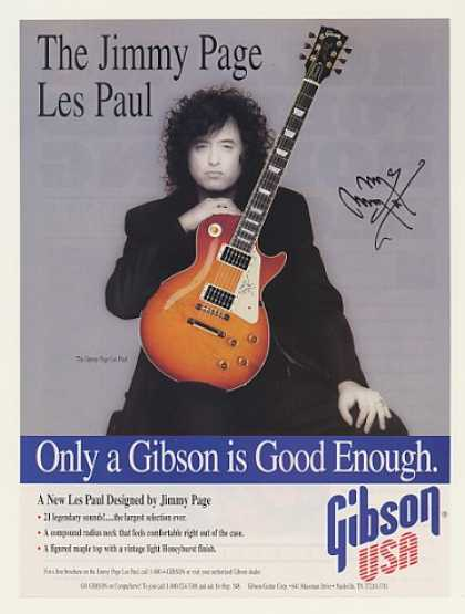 Gibson Jimmy Page Les Paul Guitar Photo (1996)