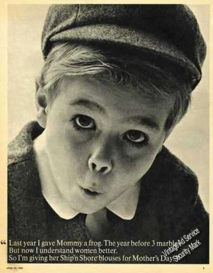 Special Young Boy Face Ship'n Shore Advertising (1965)