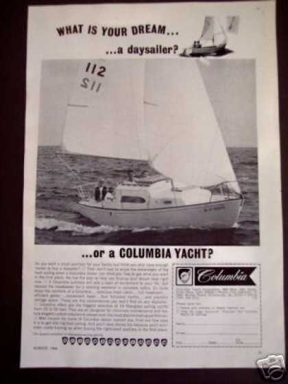 Columbia Yacht Auxilary Sailboats 22'-50' Photo (1966)