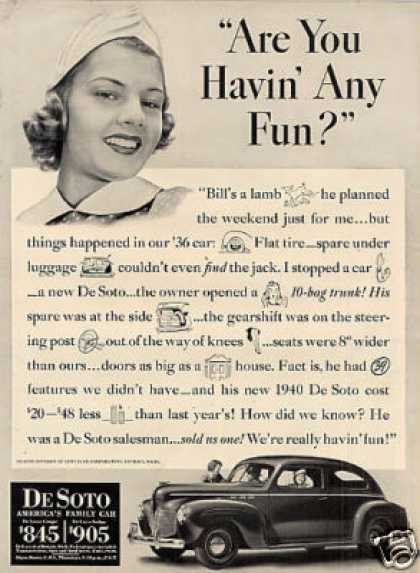 "Desoto Car Ad ""Are You Havin' Any Fun... (1940)"