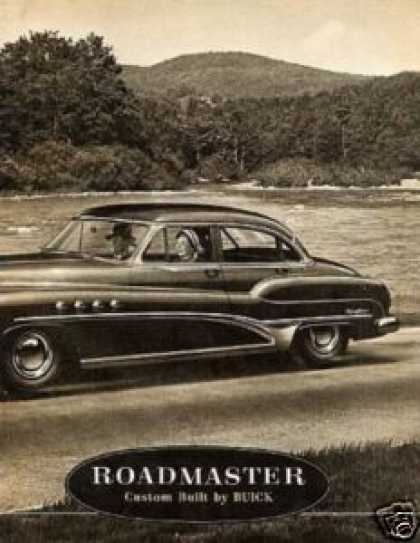 "Buick Roadmaster Car 2 Page Ad ""It's More Fun... (1952)"