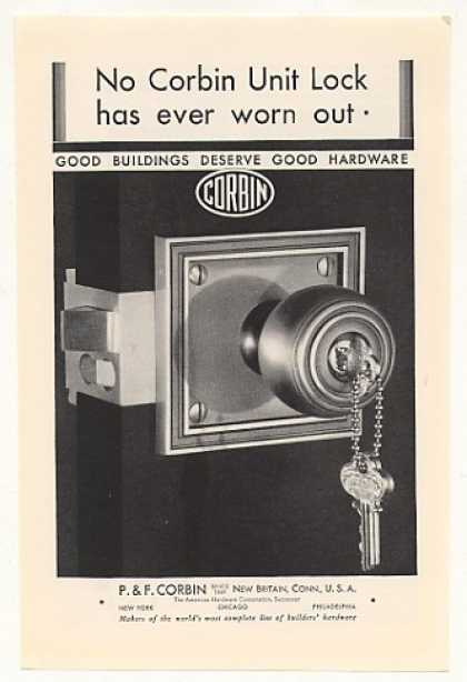 Corbin Hardware Unit Lock (1930)
