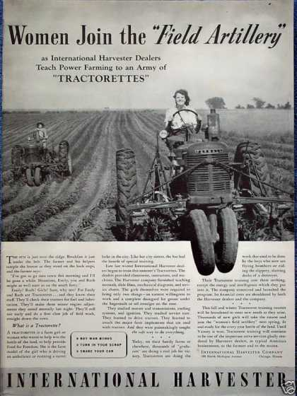 International Tractor Women Field Artillery Farm (1942)