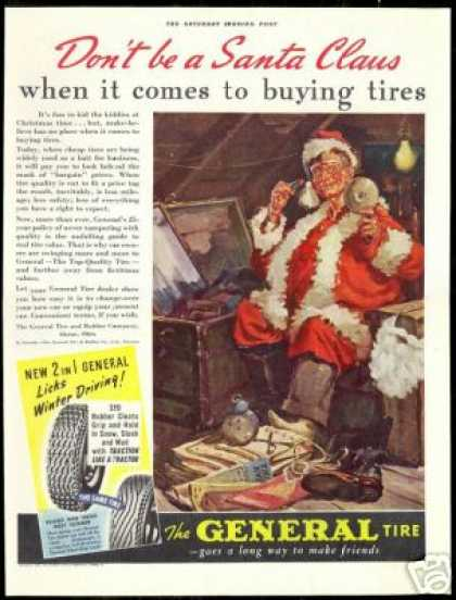 Christmas Santa Claus Art General Tire (1940)