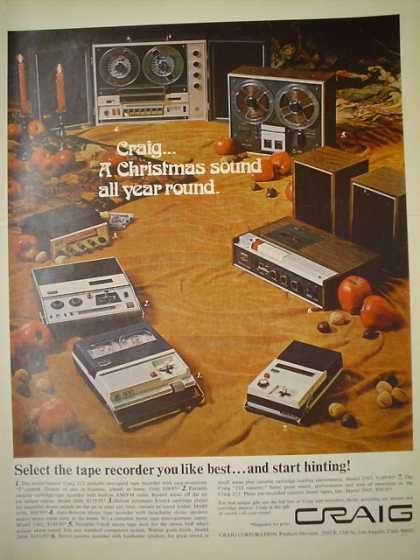 Craig tape recorders AND Dr Grabow Pipes (1968)