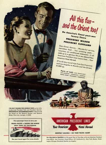 American President Line's Orient – All this fun – and the Orient, too (1948)