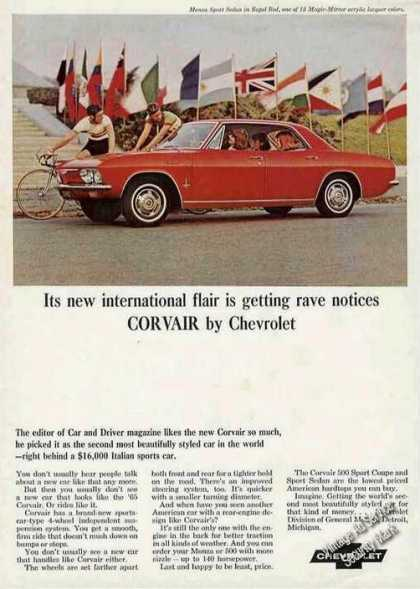 Chevrolet Corvair Red Monza Sports Sedan Photo (1965)