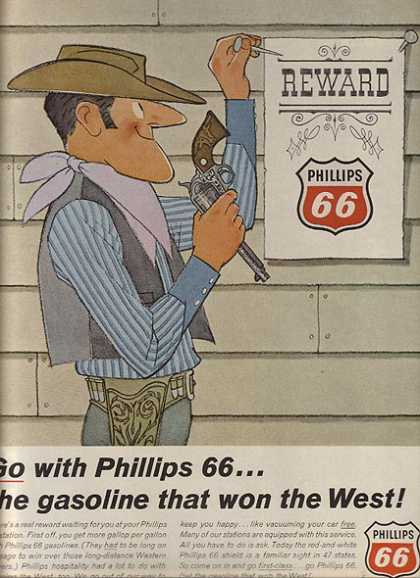 Phillips 66's Hi-energy, hi-mileage gasoline (1966)