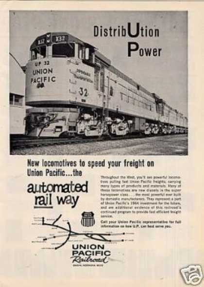 Union Pacific Railroad Ad G-e U-50 #32 (1964)