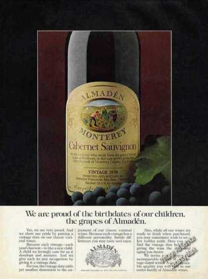 Almaden Wine Cabernet Sauvignon Bottle (1979)