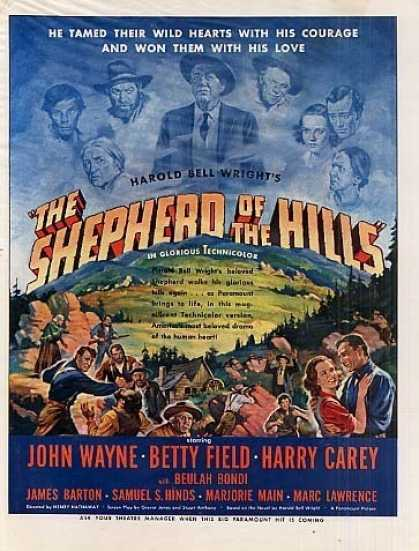 "Movie Ad ""Shepherd of the Hills"" John Wayne (1941)"