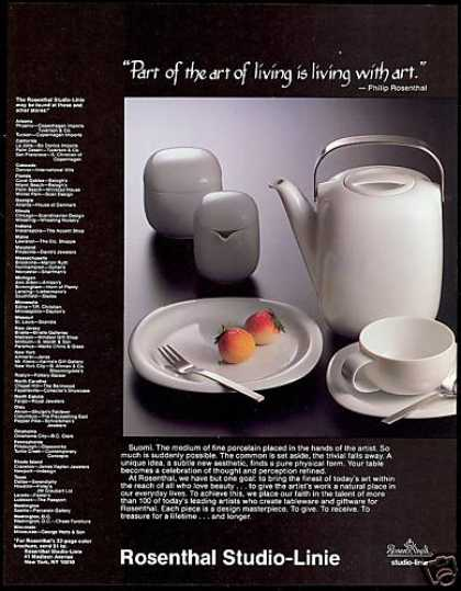 Rosenthal Studio Linie Tableware Photo (1983)