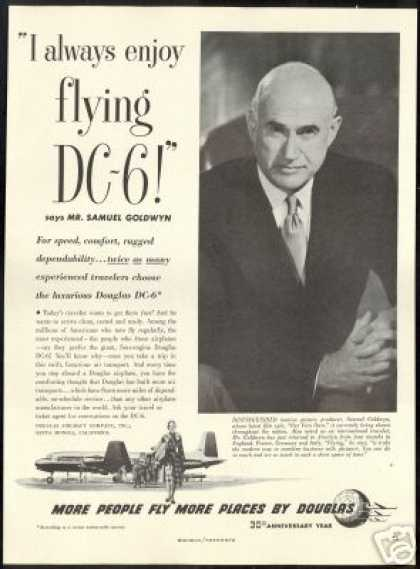 Samuel Goldwyn Photo Douglas DC-6 DC6 Airplane (1950)
