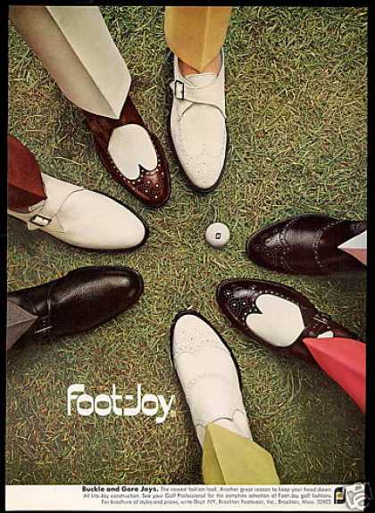 Foot Joy Assorted Golf Shoes Ball Photo (1969)