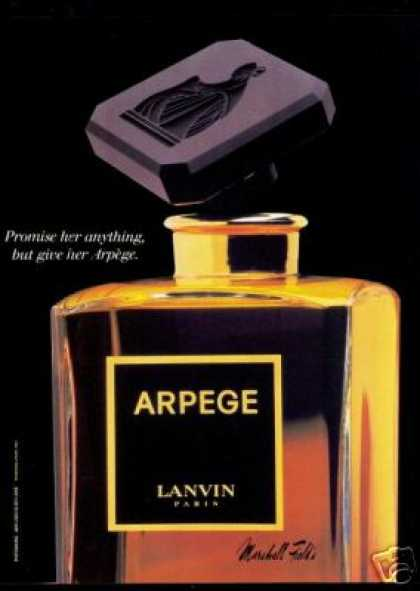 Classic Lanvin Arpege Perfume Bottle Photo (1987)