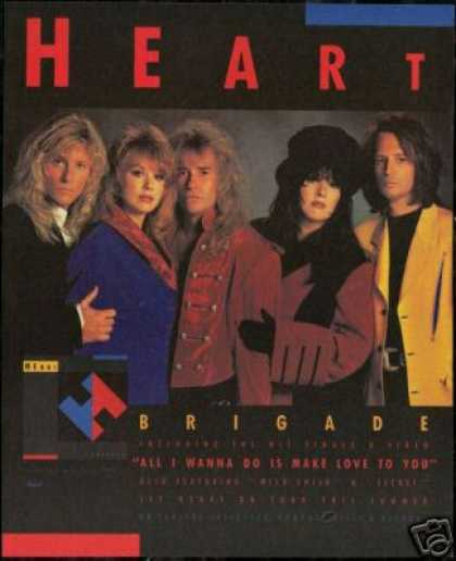 Heart Photo Print Bridge Album Promo Vintage (1990)