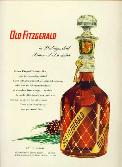 Old Fitzgerald Diamond Decanter Bourbon C (1950)