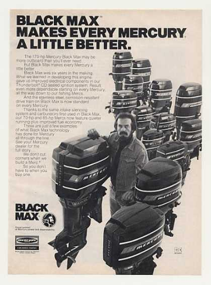Mercury Black Max Outboard Boat Motors (1977)