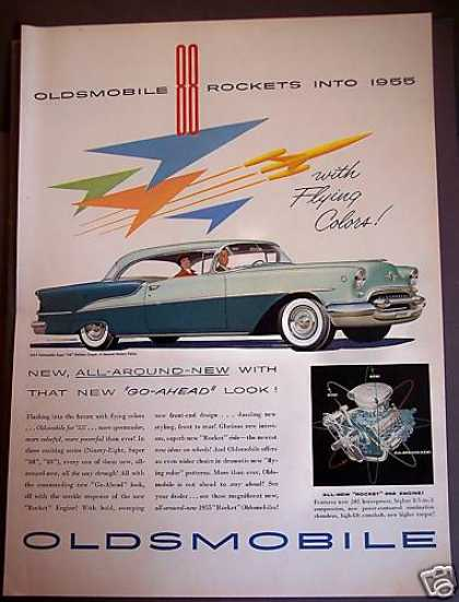 Oldsmobile Car for '55 'rocket' Engine (1954)