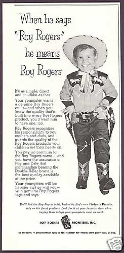 Cute Cowboy Roy Rogers Fashion Toy Guns (1956)