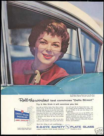 Barbara Hale Photo Della Street LOF Car Glass (1958)