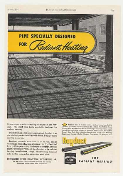 Bethlehem Steel Rayduct Radiant Heating Pipe (1947)