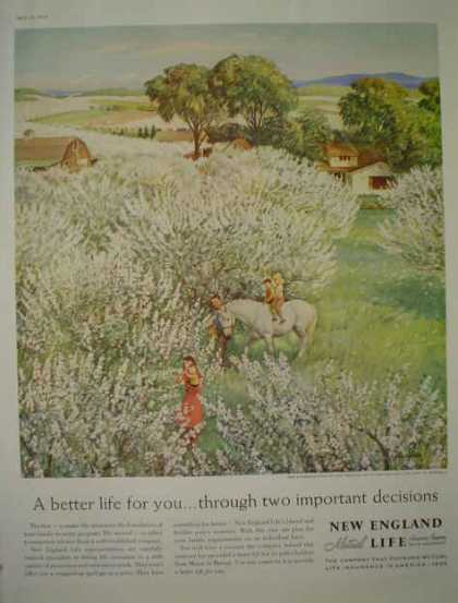 New England Mutual Life Farm Theme John Clymer Art (1959)