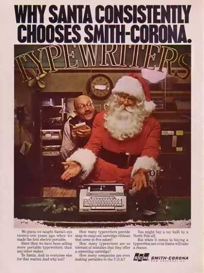 Smith Corona Christmas with Santa Claus (1977)