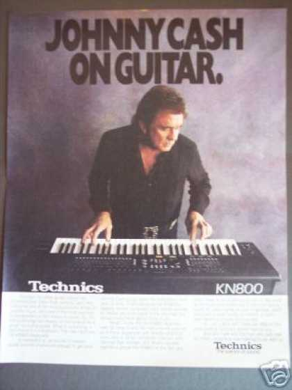 Johnny Cash Photo Technics Keyboard Promo (1989)
