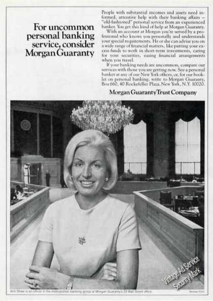 Morgan Guaranty Trust Company Ann Shaw Photo (1977)