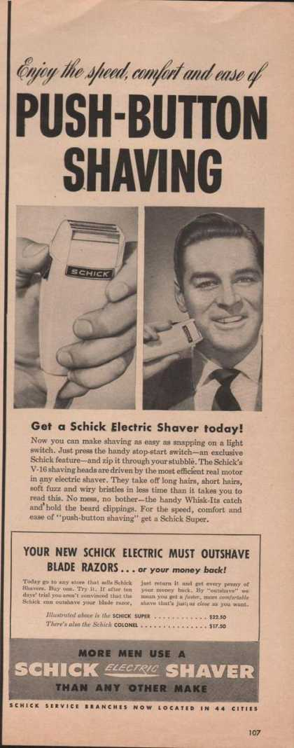 Schick Electric Mens Shaver (1950)