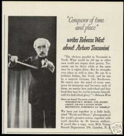 Arturo Toscanini Photo Rebecca West Vintage (1950)
