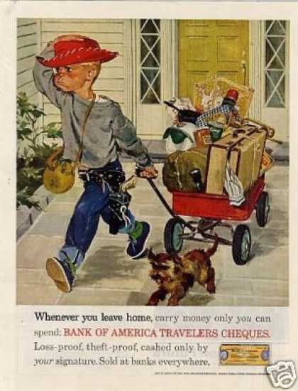 Bank of America Ad Boy With Red Wagon (1961)