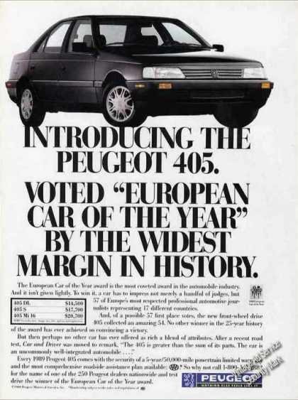 "Peugeot 405 ""European Car of the Year"" (1988)"