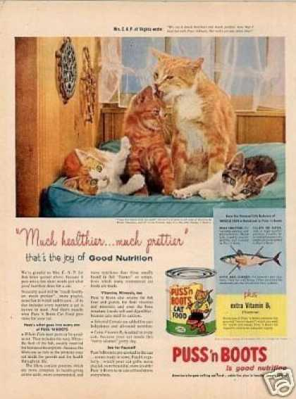 Puss 'n Boots Cat Food (1957)