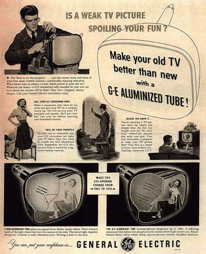 General Electric Company's G-E Aluminized Tube – Is A Weak TV Picture Spoiling Your Fun? (1952)