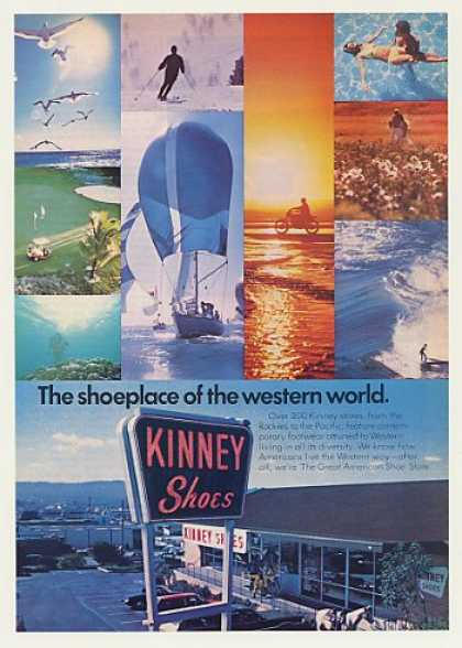 Kinney Shoes Store Sign Western Living (1977)