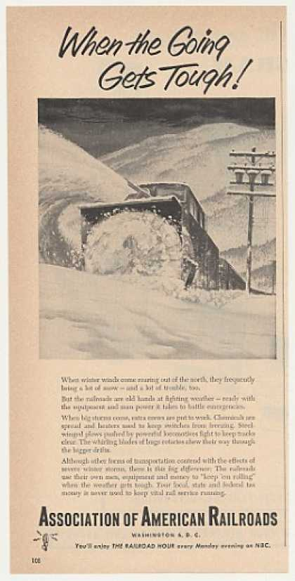 Train Snow Plow Association American Railroads (1953)