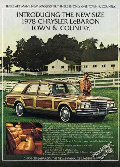 Chrysler Lebaron Town & Country On Farm Nice (1978)