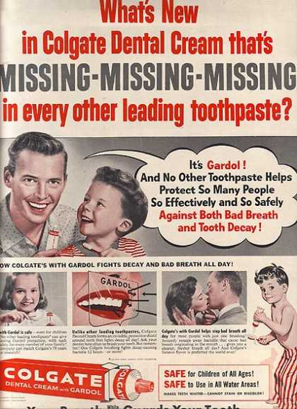 Colgate's Dental Cream with Gardol (1956)