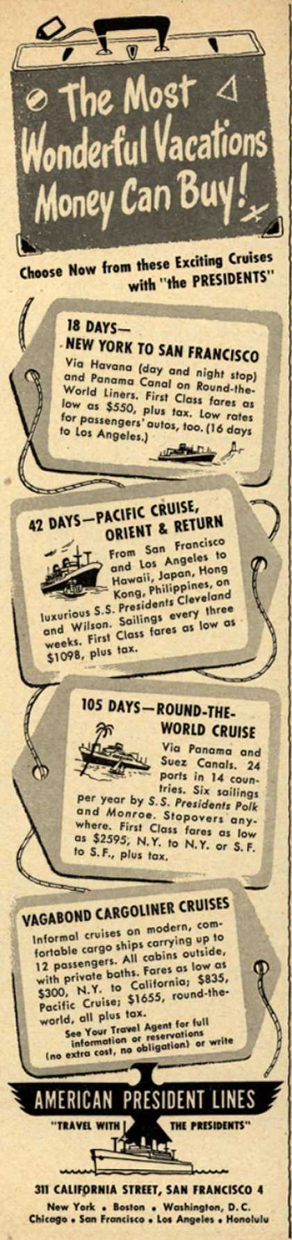 American President Lines – The Most Wonderful Vacations Money Can Buy (1950)