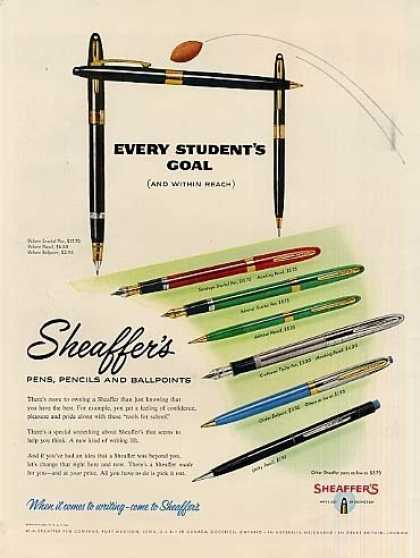 Sheaffer's Pens & Pencils (1955)