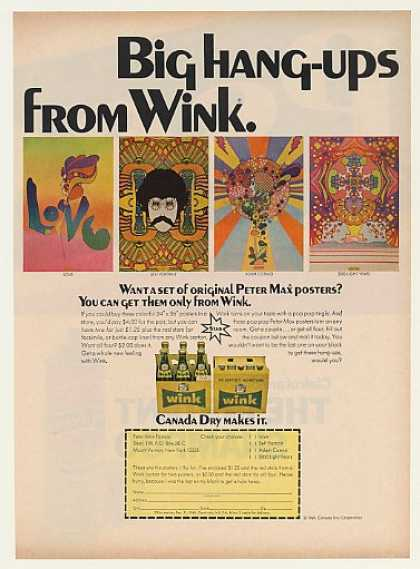 Canada Dry Wink Soda Peter Max Posters (1968)