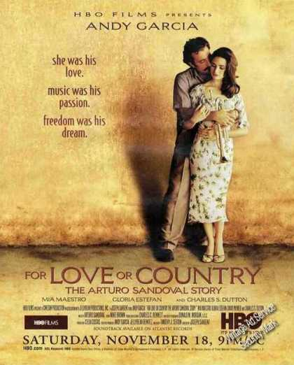 "Andy Garcia ""For Love or Country"" Hbo Film (2000)"