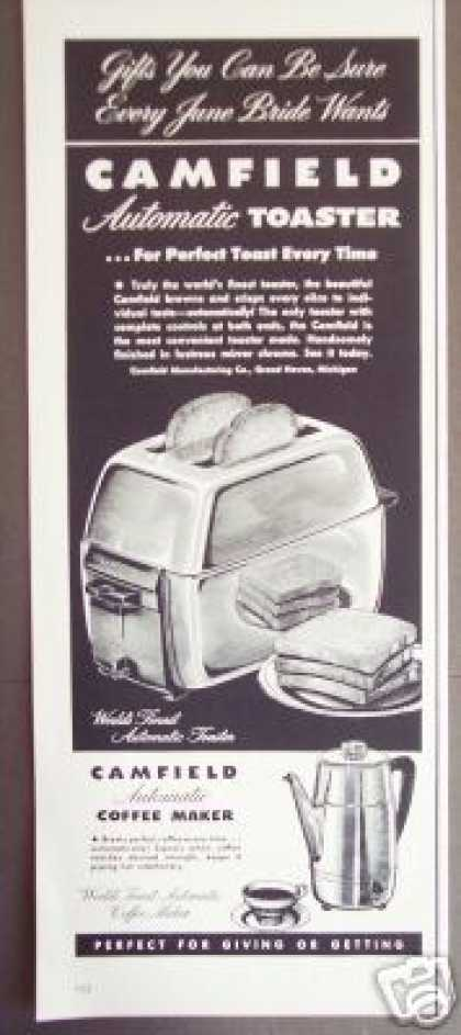 Camfield Automatic Chrome Toaster (1951)