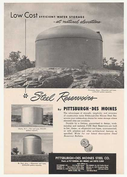 Worcester Pittsburgh-Des Moines Steel Reservoir (1952)