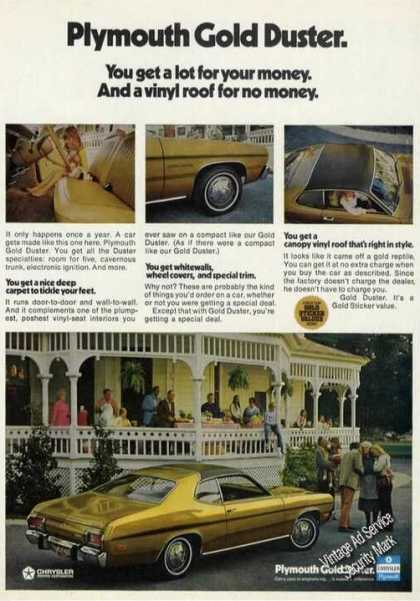 Plymouth Gold Duster Photos Car (1973)