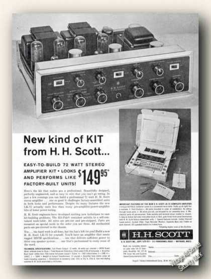 H. H. Scott Amplifier Kit Photo (1961)