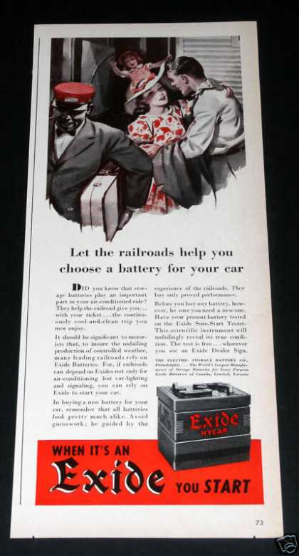 Exide Hycap Battery (1941)